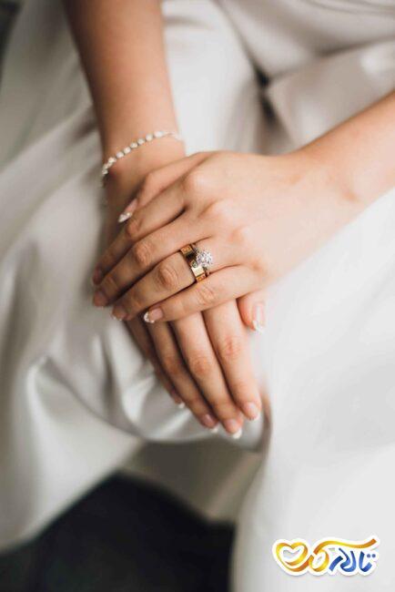 حلقه ازدواج و جواهرات عروس