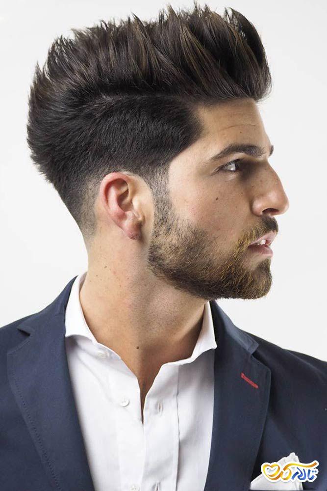 مدل موی ایستاده برای داماد