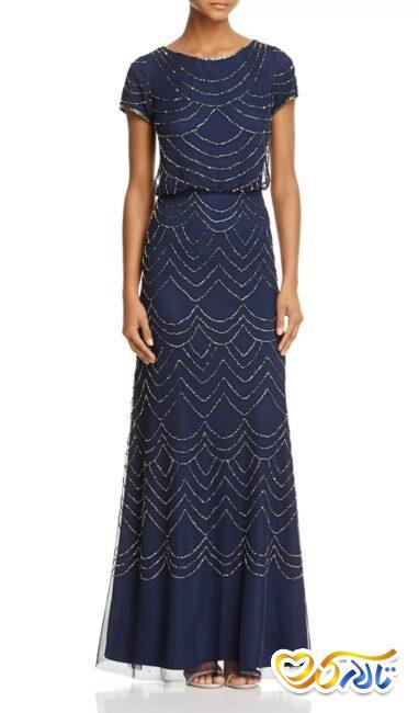 لباس شب ماکسی مدل بلوز دامن