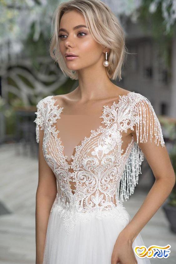 لباس عروس مرواریددوزی