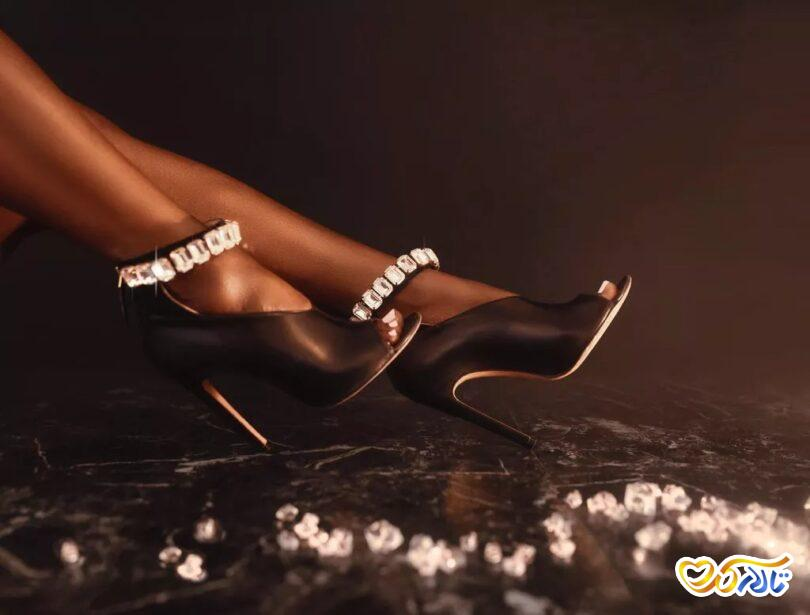 کفش مشکی عروس