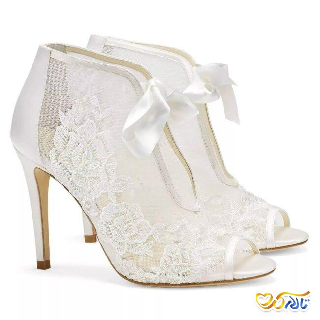 مدل کفش عروسی توری