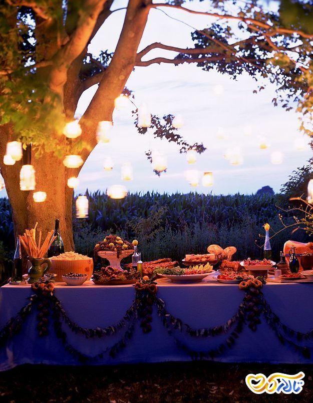 مراسم عروسی در فضای باز