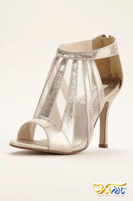 کفش متالیک عروس
