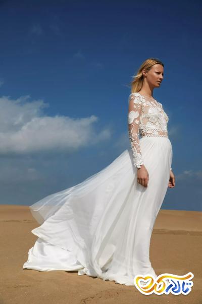 لباس عروس دانتل بالاتنه
