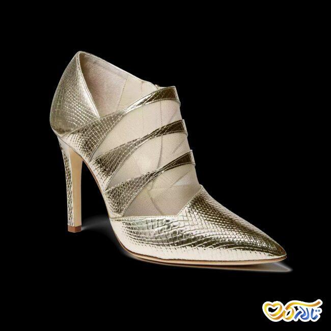 مدل کفش طلایی عروس