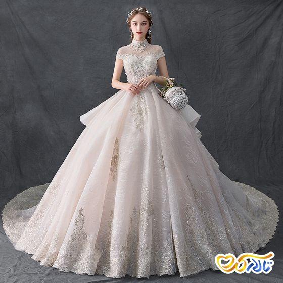 لباس عروس پفی مروارید