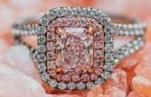 حلقه عروسی الماس صورتی