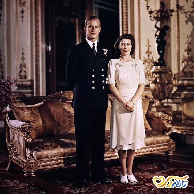 عکس نامزدی ملکه الیزابت