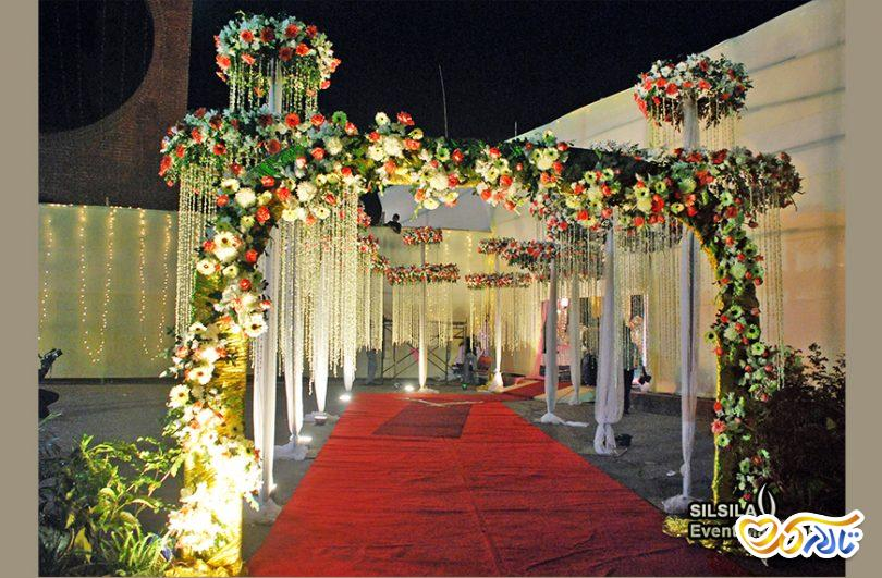 راهروی ورود عروس و داماد