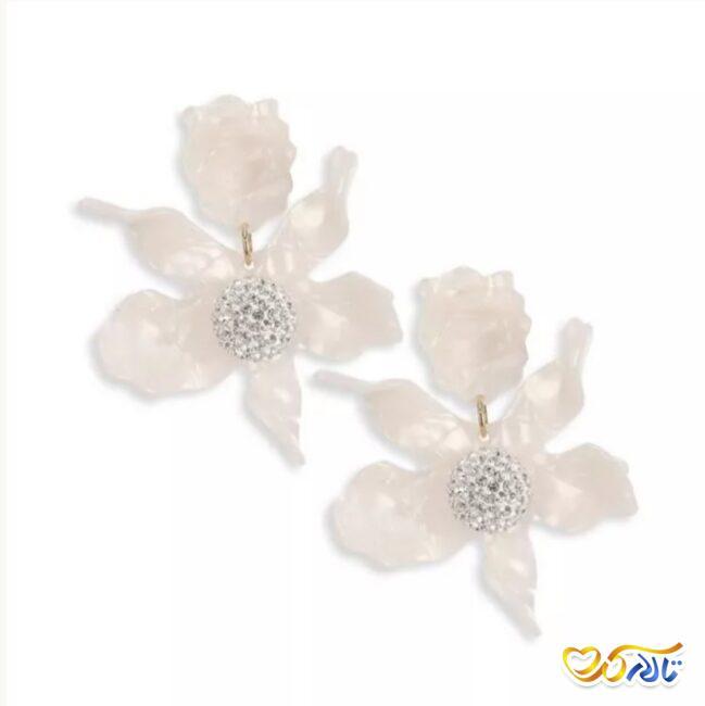 گوشواره طرح گل برای عروس