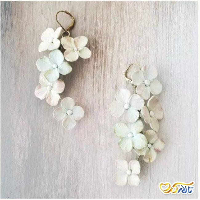 گوشواره طرح گل زیبا برای عروس