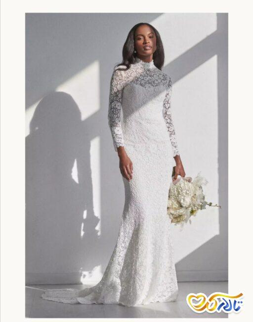 مدل لباس عروس توری