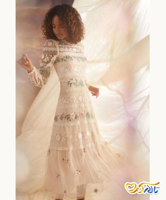 لباس عروسی طرح گل