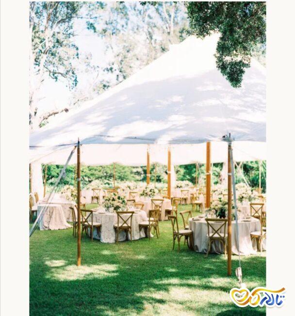 برگزاری مراسم عقد و عروسی در فضای باز