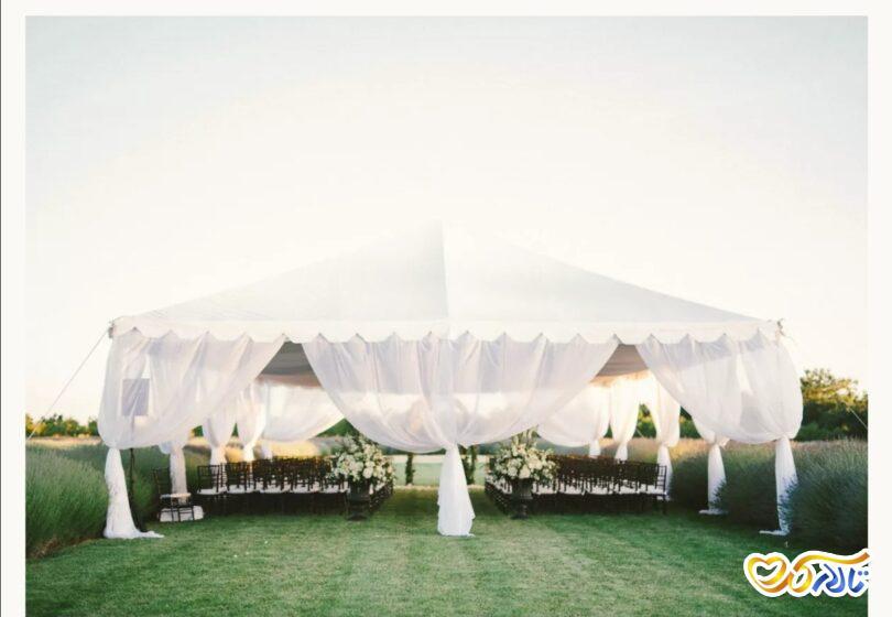تشریفات برگزاری مراسم عروسی در فضای باز و چادر