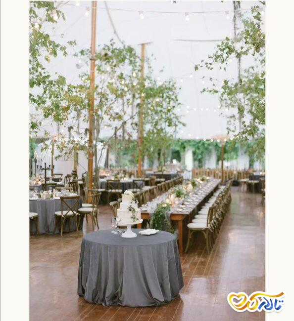 نصب چادر برای برگزاری مراسم عروسی