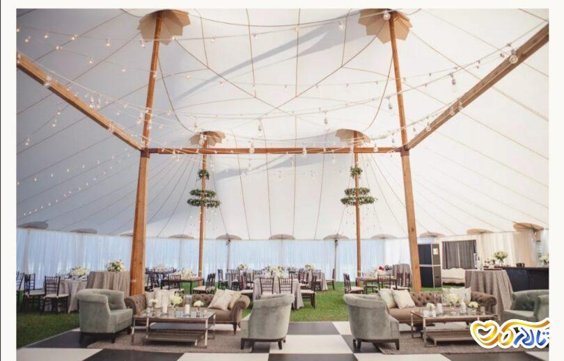 ایده برگزاری مراسم عروسی در فضای باز