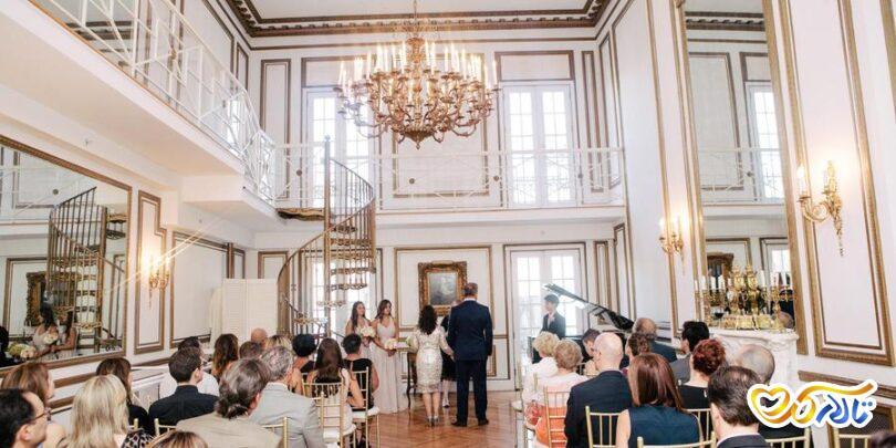 چیدمان صندلی عقد عروسی