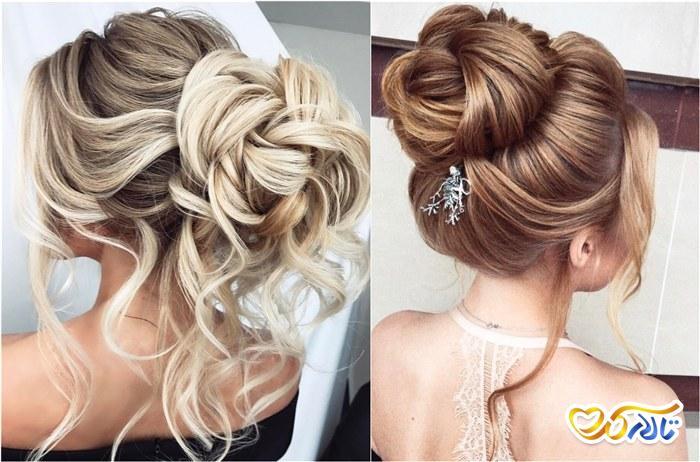 مو رنگ درخشان عروس