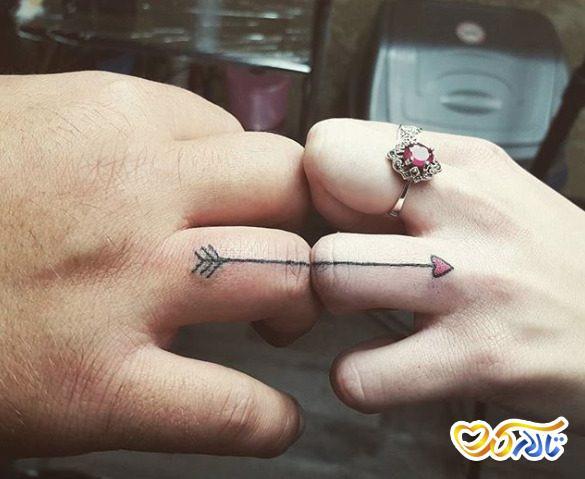 حلقه عروسی تتو شده