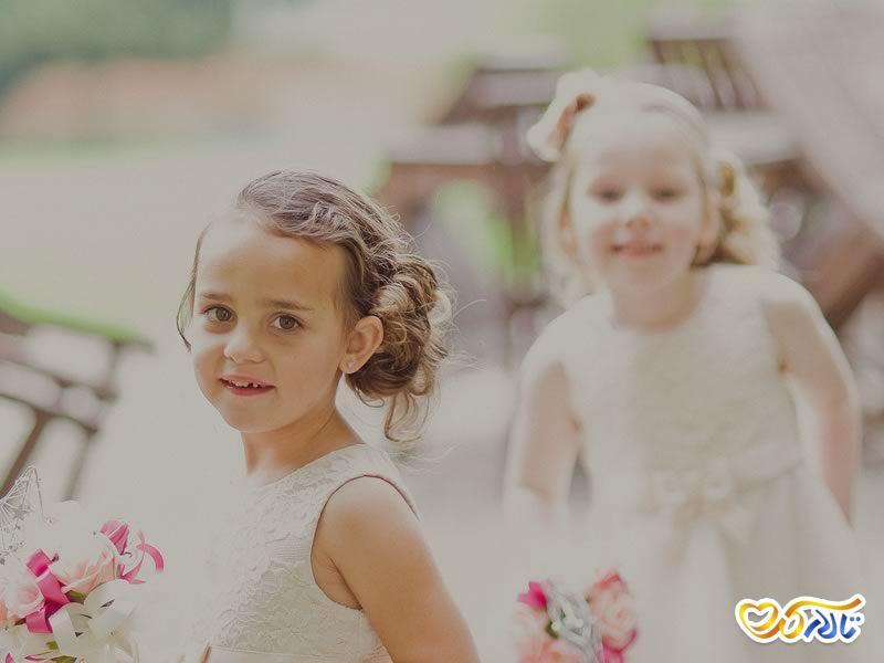 بچه ها در مراسم عروسی