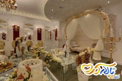 جایگاه عروس و داماد تالار پذیرایی هتل پرشین