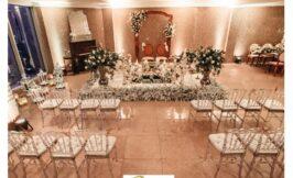 جایگاه عروس و داماد و میهمانان سالن عقد