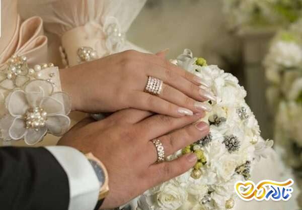 حلقه عروسی و ازدواج الهام حمیدی