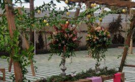 گل ارایی باغ تالار دانش
