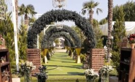 ورودی باغ عمارت مجلل یاسین