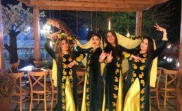 استیج رقص باغ عمارت یاسین