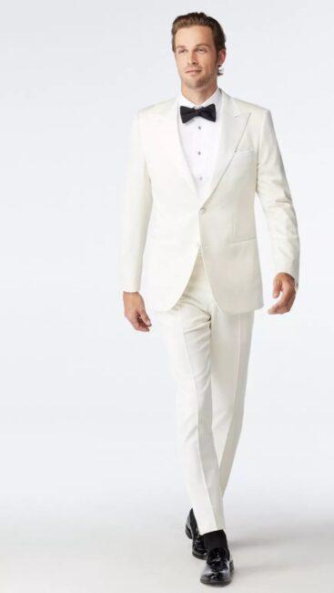 کت و شلوار سفید دامادی