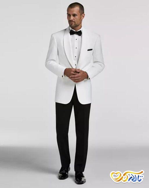 کت و شلوار سفید برای داماد