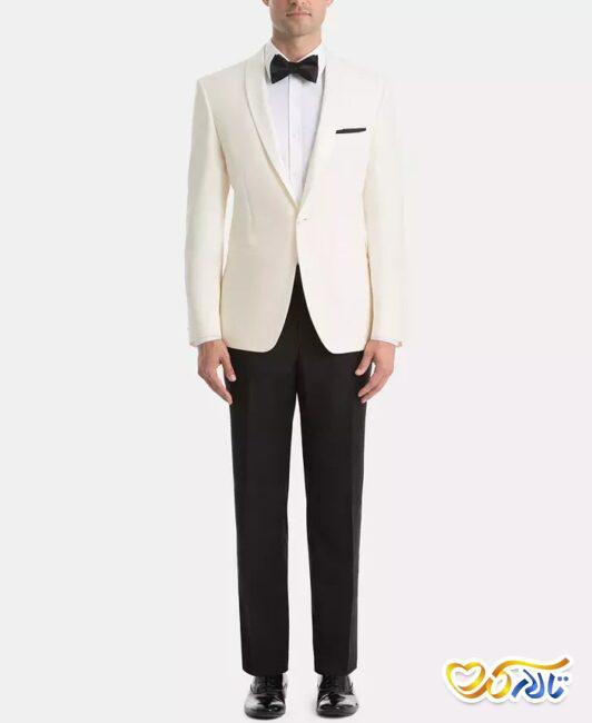 کت سفید کلاسیک
