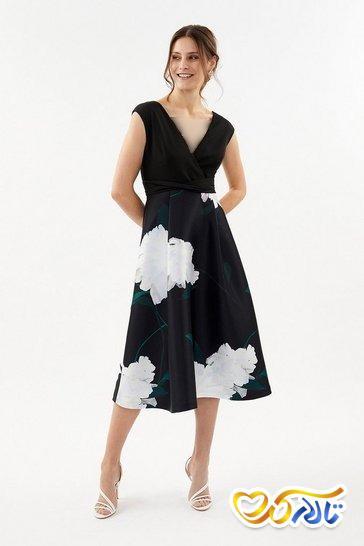 لباس مجلسی گل گلی