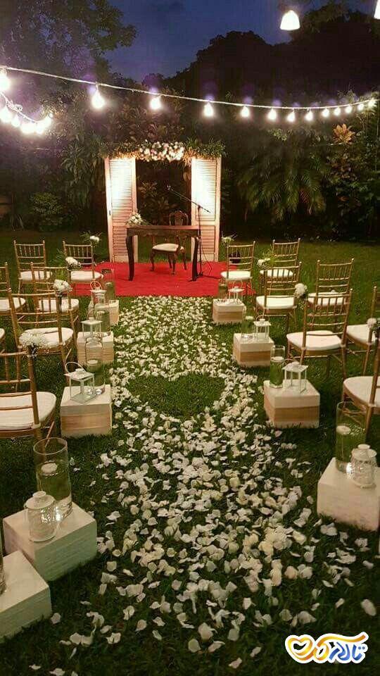 گل آرایی در راه روی عروس و داماد