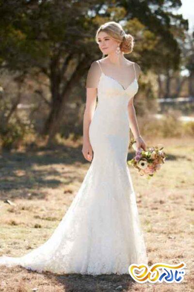 لباس عروس یقه بندی