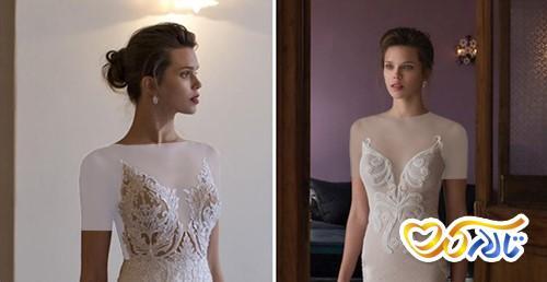 لباس عروس دکلته هفتی V