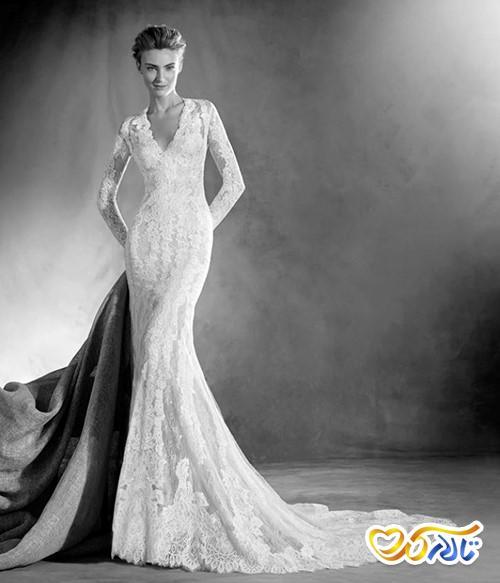 لباس عروس یقه هفت V