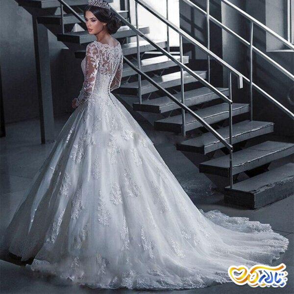 لباس عروس سفید دانتل
