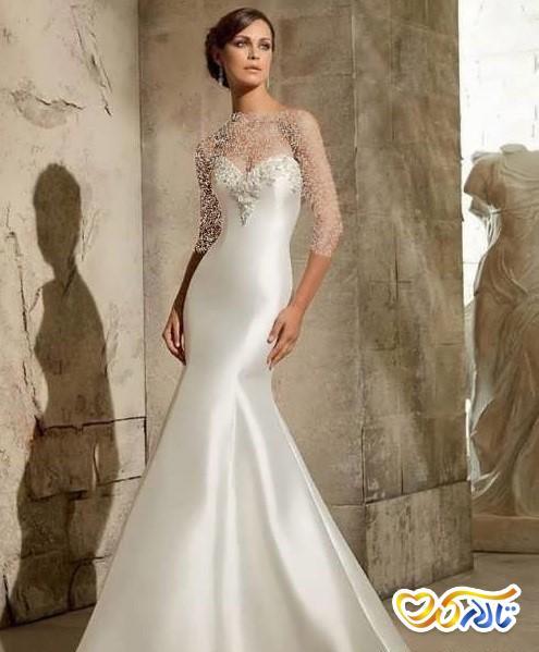 لباس عروس مدل ماهی ساتن