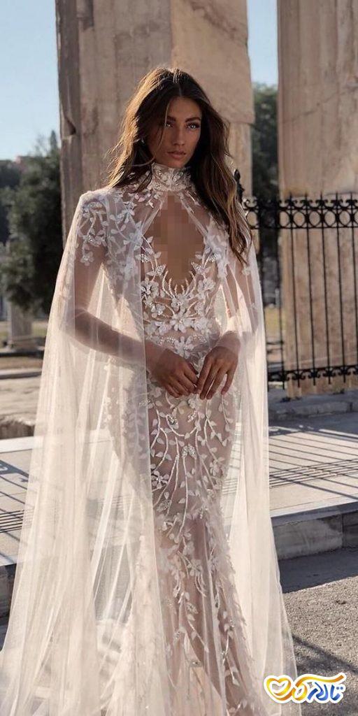 لباس عروس کار دست مدل ماهی شیک