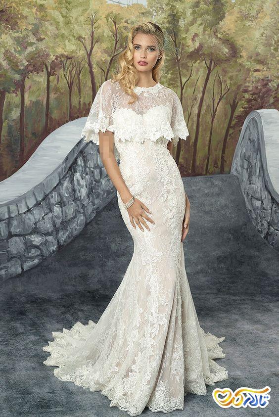 لباس عروس شنل مدل ماهی
