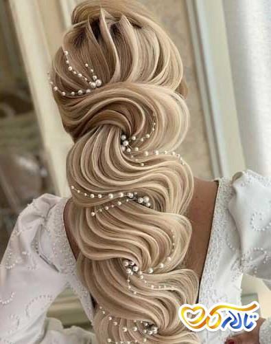 شینیون عروس موی باز
