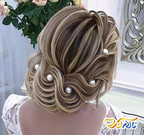 مدل شینیون عروس خطی