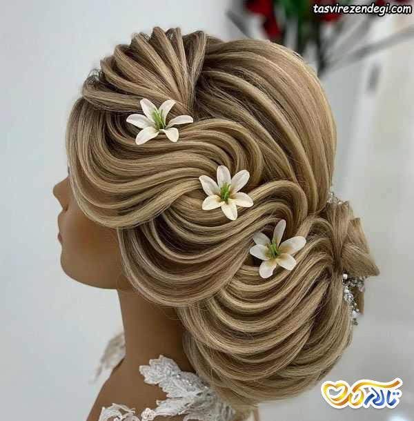 شینیون خطی عروس