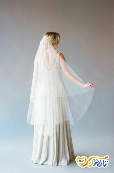 تور ساده عروس شینیون