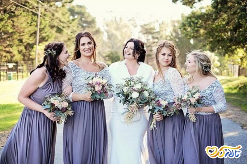 انتخاب و ستکردن لباس ساقدوش عروس