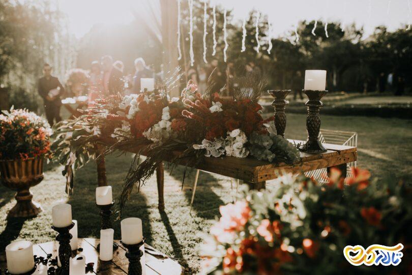 مراسم عقد در فضای باز  و عروسی در فضای باز